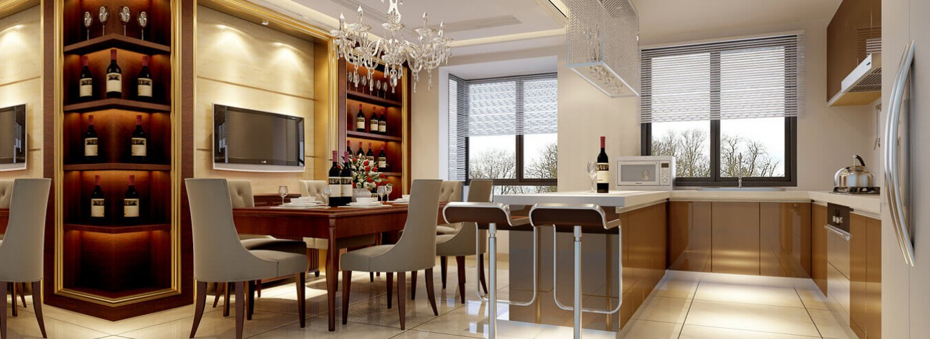 Phòng Bếp thiết kế đẹp bàng gỗ | Nội Thất Đức Tính