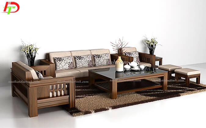 Bàn ghế gỗ phòng khách giá rẻ BG27