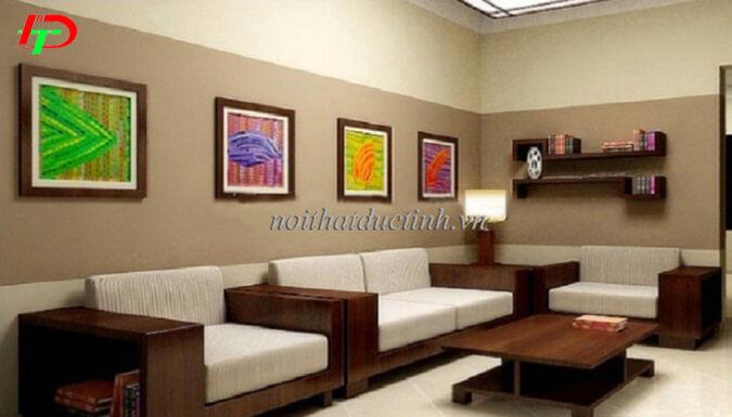 Mẫu bàn ghế gỗ phòng khách BG17