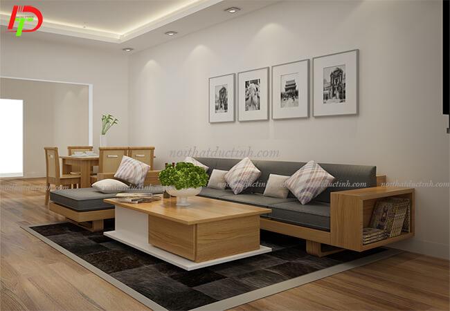 Bàn ghế gỗ phòng khách BG15