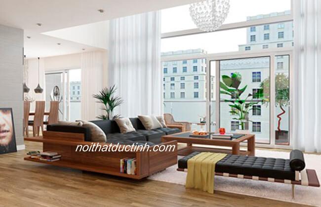 Sofa gỗ phòng khách hiện đại BG37