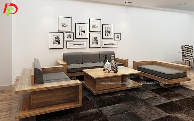 Bàn ghế gỗ phòng khách đẹp BG29