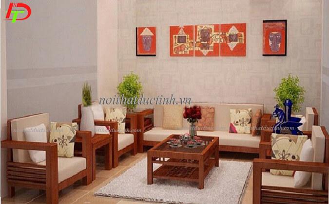 Bàn ghế gỗ tự nhiên phòng khách BG08