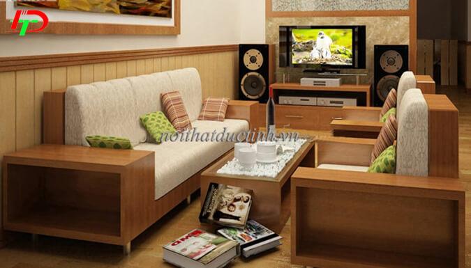 Bàn ghế gỗ phòng khách nhỏ BG18