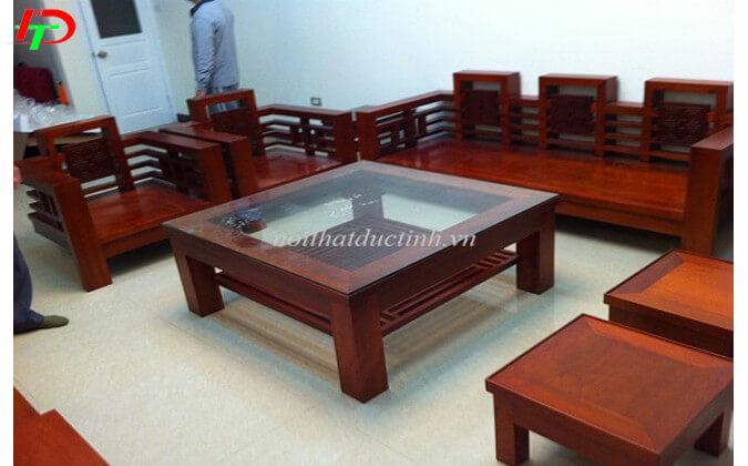 Bàn ghế gỗ phòng khách BG23