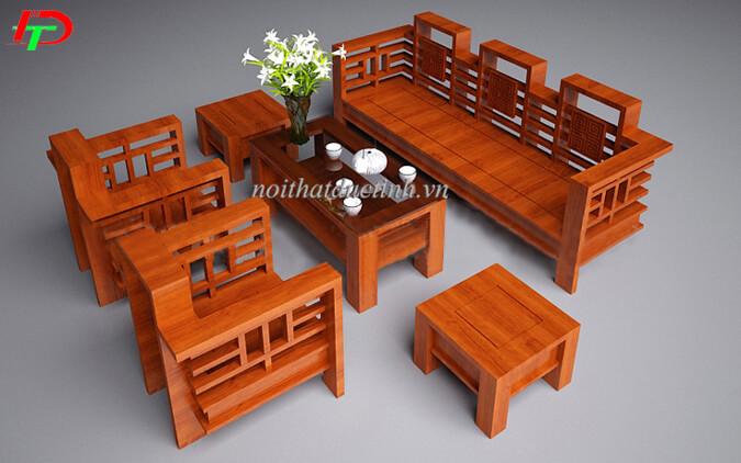 Bàn ghế gỗ phòng khách đẹp BG11
