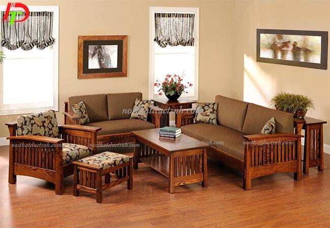 Bàn ghế gỗ phòng khách đẹp BG14