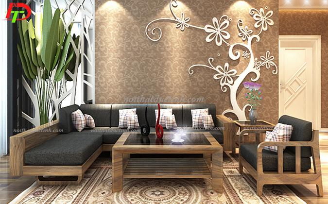 Mẫu bàn ghế gỗ phòng khách BG32