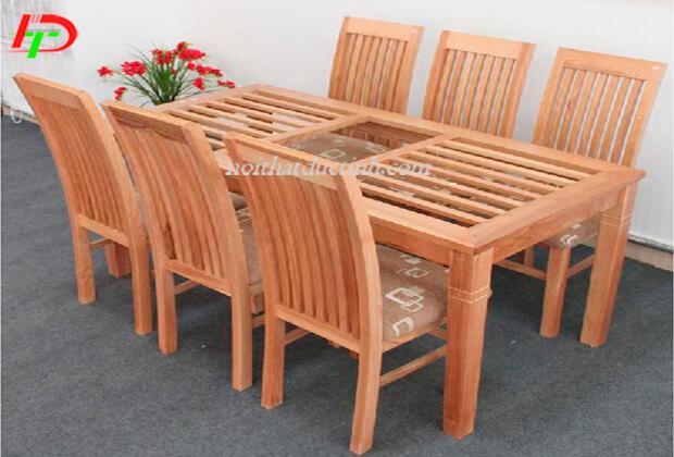 Bàn ghế ăn gỗ xoan đào BA49