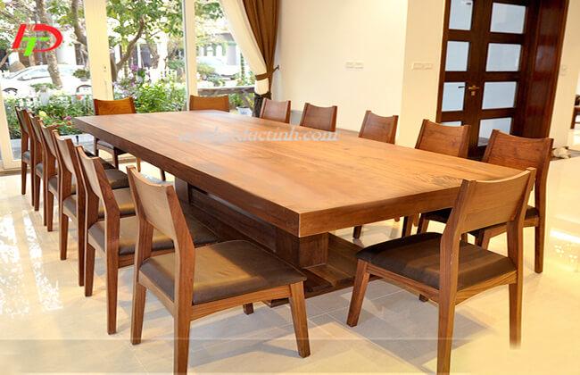 Bộ bàn ăn gỗ sồi nga 14 ghế BA50