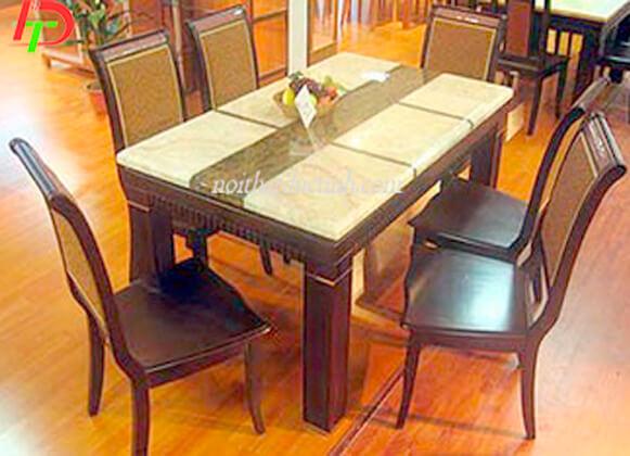 Bàn ghế ăn gỗ sồi nga BA70