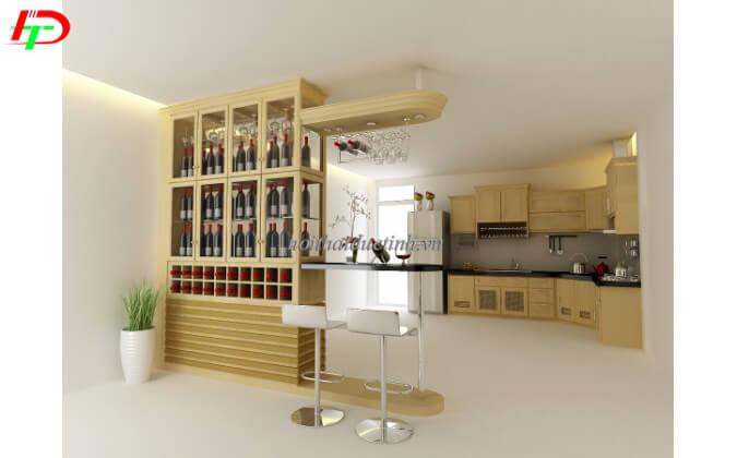 Mẫu quầy bar mini gia đình thiết kế đẹp, hiện đại QB12