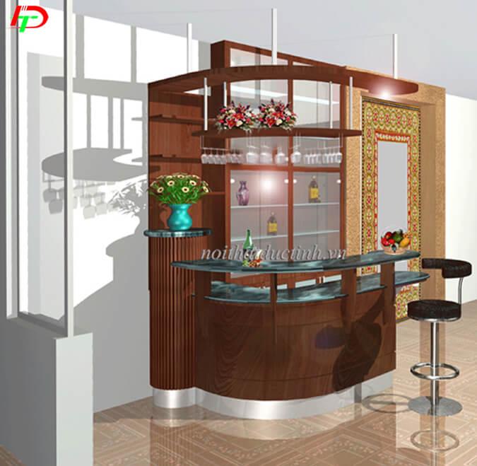 Mẫu quầy bar mini đẹp QB10