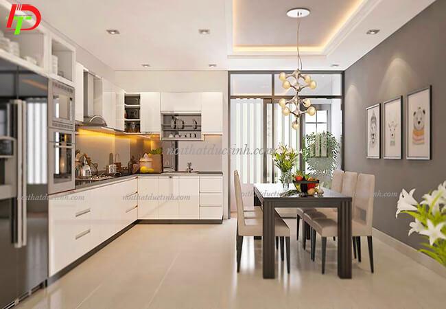 Tủ bếp cao cấp chữ L TB21