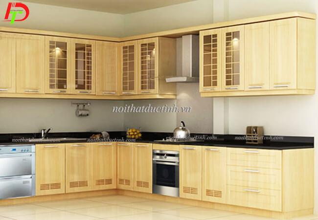 Tủ bếp đẹp gỗ sồi nga TB20