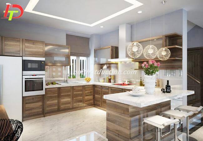 Tủ bếp gỗ tự nhiên TB01