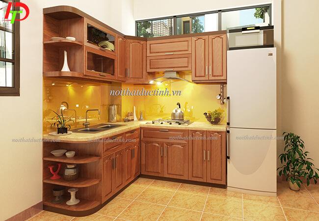 Tủ bếp gỗ tự nhiên TB14