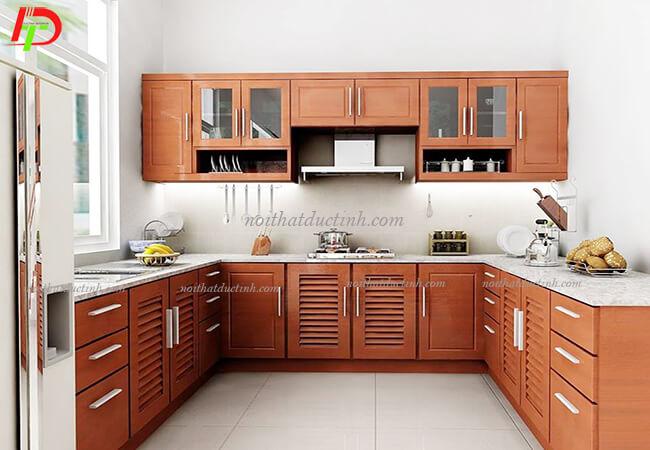 Tủ bếp gỗ tự nhiên TB22