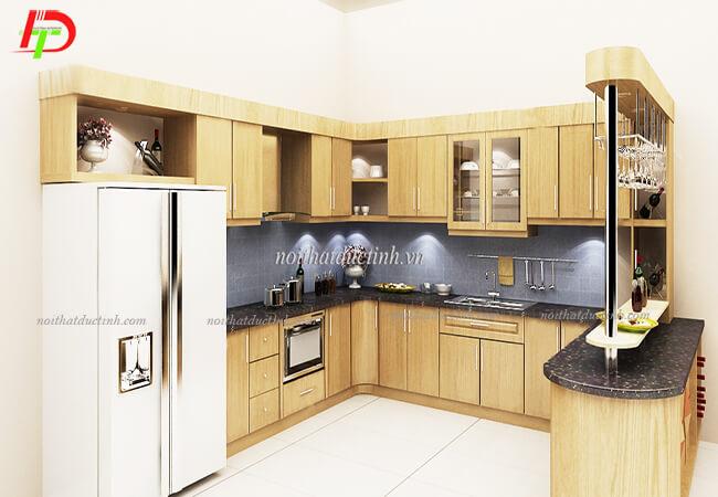 Tủ bếp kết hợp quầy bar cao cấp TB30