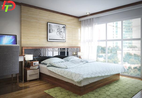 Giường ngủ hình khối gỗ công nghiệp GN20