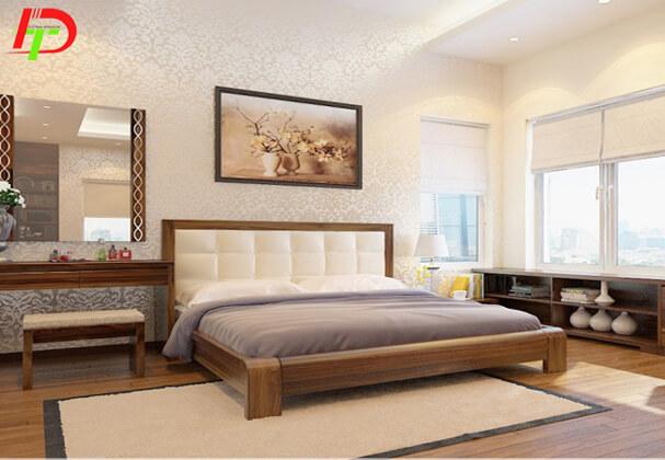 Mẫu giường gỗ đẹp GN08
