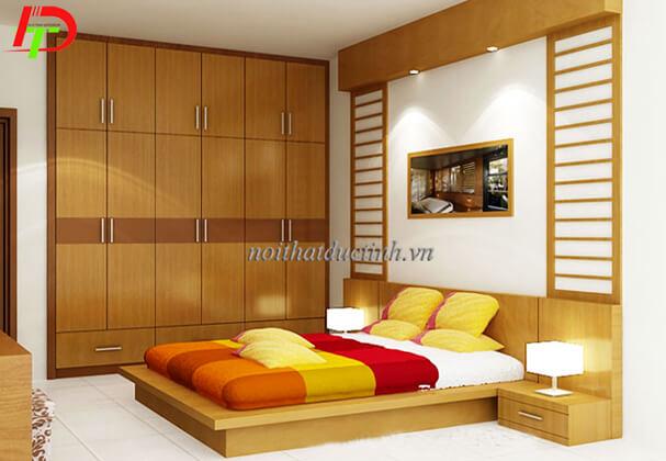 Mẫu giường gỗ đẹp kiểu nhật GN19