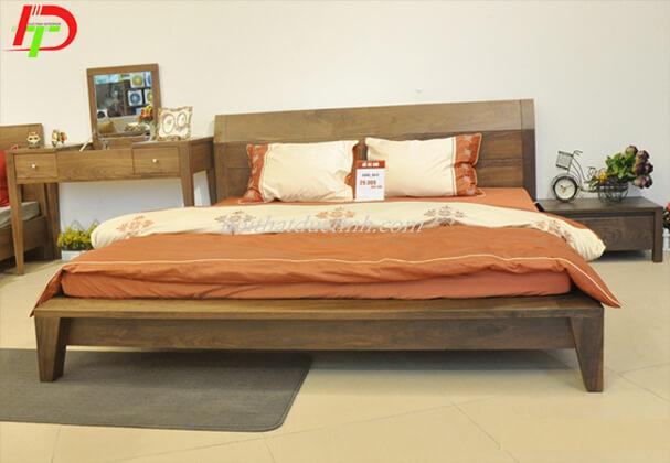 Giường gỗ tự nhiên - gỗ sồi GN57