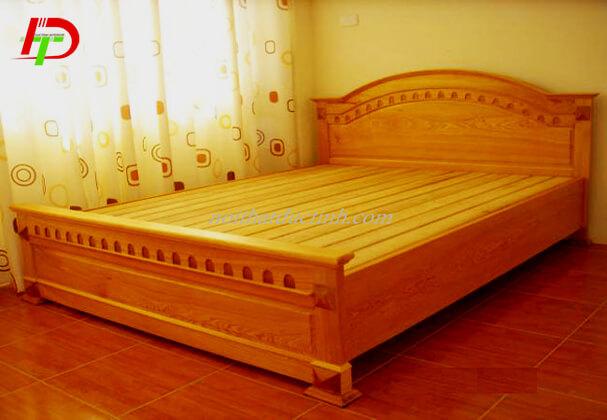 Mẫu giường ngủ gỗ tự nhiên-gỗ xoan đào GN53
