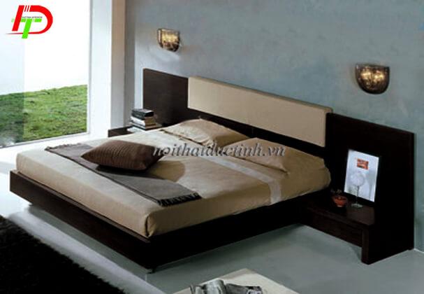 Giường ngủ có ngăn kéo gỗ sồi Nga GN65