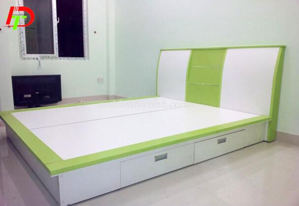 Giường ngủ gỗ công nghiệp có hộc kéo GN51