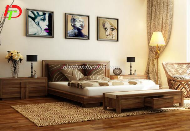 Giường ngủ đẹp gỗ sồi GN43