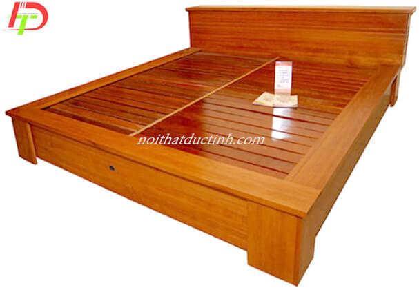 Giường ngủ gỗ tự nhiên, gỗ sồi GN55