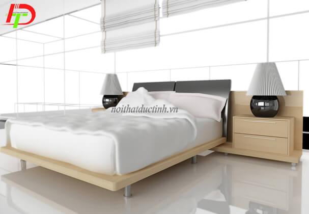 Mẫu giường ngủ gỗ hiện đại GN29