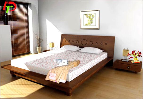 Mẫu giường ngủ gỗ sồi hiện đại GN60