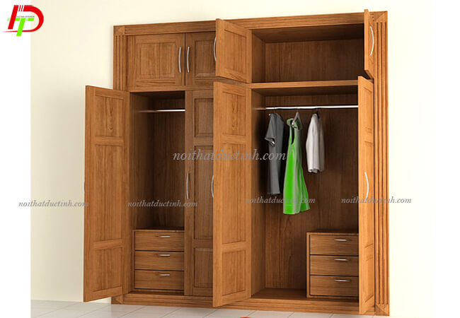 Tủ quần áo gỗ tự nhiên TA43