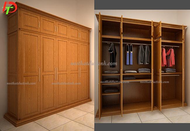 Tủ quần áo gỗ tự nhiên TA03