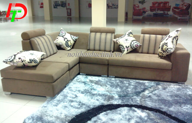 Ghế sofa nỉ đẹp, hiện đại SF49