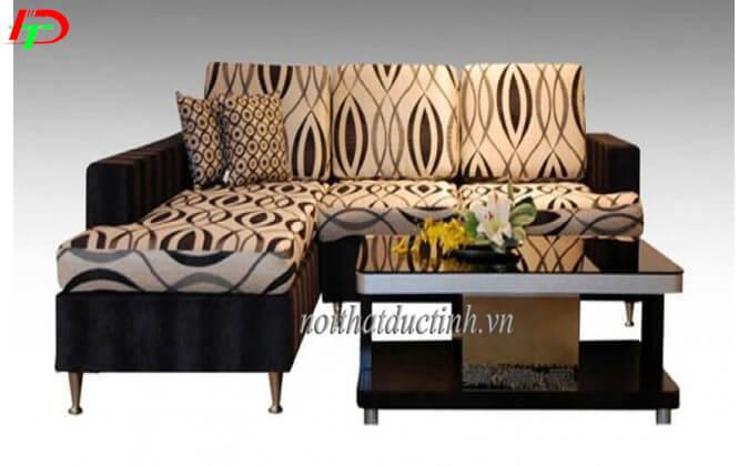 Bàn ghế sofa nỉ phòng khách SF11