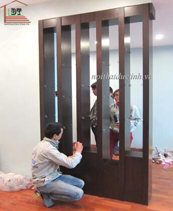 Vách ngăn phòng khách gỗ VNP14