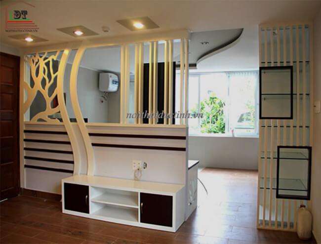 Vách ngăn gỗ phòng khách hiện đại VNP02