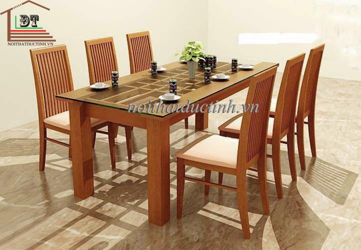 bộ bàn ăn gỗ bền đẹp