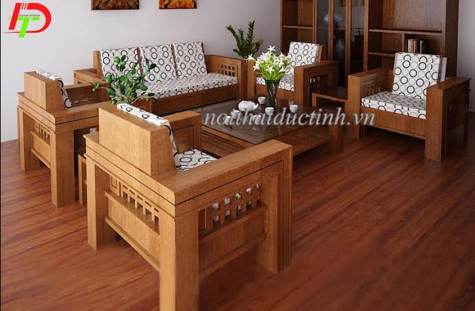 bộ bàn ghế gỗ phòng khách bg02