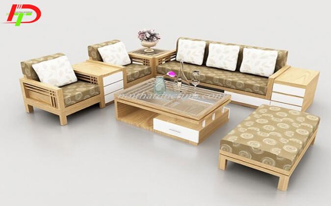 Bộ bàn ghế phòng khách gỗ sồi BG03