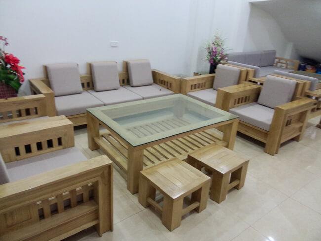 bộ bàn ghế gỗ hiện đại bg02