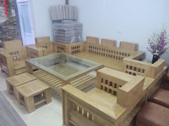 bộ bàn ghế gỗ phòng khách sang trọng