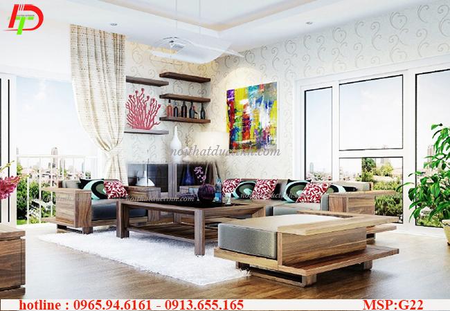 Những mẫu bàn ghế phòng khách đẹp kết hợp yếu tố thiên nhiên gần gũi