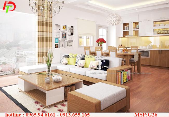 Bộ sưu tập những mẫu bàn ghế phòng khách gỗ sồi trang nhã