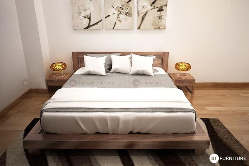 mẫu giường ngủ kiểu nhật hiện đại sang trọng giá rẻ