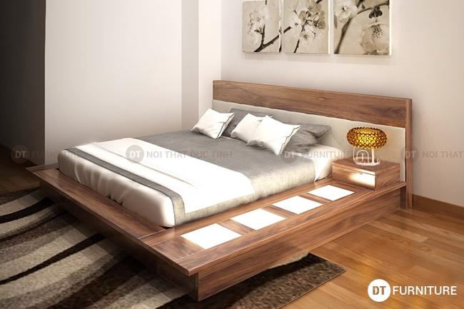 Mẫu giường ngủ gỗ óc chó đẹp nhất 2016
