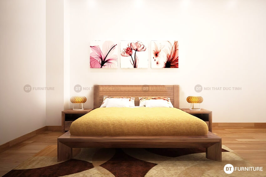 Mẫu giường ngủ kiểu Nhật GN01
